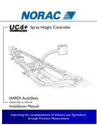6 electrical reference – cable drawings - Norac