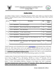Tender for Different Equipments - National Research Centre on ...