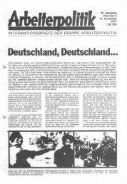Deutschland, Deutachlamd ... - der Gruppe Arbeiterpolitik