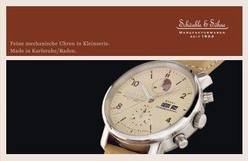 Feine mechanische Uhren in Kleinserie. Made in Karlsruhe/Baden.