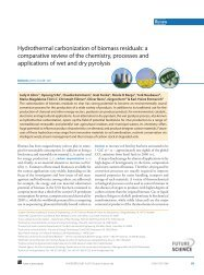 Hydrothermal carbonization of biomass residuals - Agricultural ...