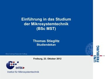 Mikrosystemtechnik - Bachelor of Science - Technische Fakultät ...
