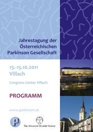AbsTRACTs - Österreichische Parkinson Gesellschaft