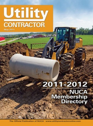 View Full May PDF Issue - Utility Contractor