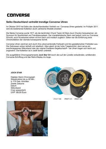 Seiko vertreibt Converse Uhren-Kollektion