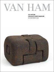 317. Auktion HigHligHts einer sAmmlung - VAN HAM Kunstauktionen