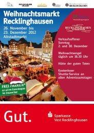 Weihnachtsmarkt Recklinghausen 26. November bis 23. Dezember