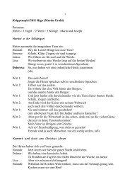 Krippenspiel 2011 Riga (Martin Grahl) Personen: Hirten / 2 Engel / 2 ...