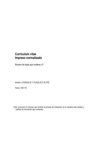 Curriculum Vitae Impreso Normalizado