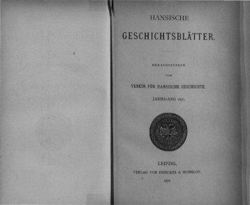 B LÄ TT E R. - Hansischer Geschichtsverein