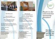 Musik in der reformierten Gemeinde Ronsdorf Konzert - Evangelisch ...