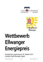 Protokoll der Jurysitzung am 30. Oktober 2012 ... - Stadt Ellwangen