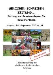Heimzeitung - Beiträge von SeniorInnen Ausgabe 38 - Stadt Salzburg