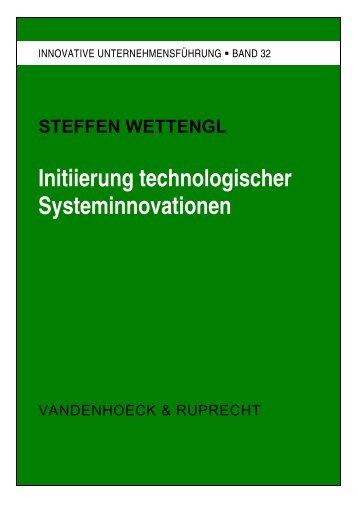Initiierung technologischer Systeminnovationen - OPUS - Universität ...