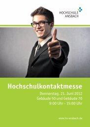 Messeheft - Download als PDF Datei - Hochschule Ansbach