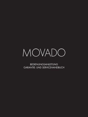 bedienungsanleitung garantie- und servicehandbuch - Movado