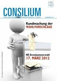 17. MÄrz 2012 - Ärztekammer Niederösterreich