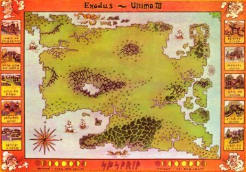 Exodus: Ultima III - Map, Box Scans, Disk Scan ... - c64sets.com
