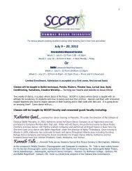 July 9 – 20, 2012 - SC Christian Dance