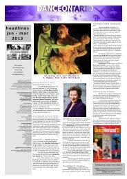 headlines jan - mar 2013 - Dance Ontario