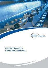 Thin Film Evaporators & Short Path Evaporators - Medibalt