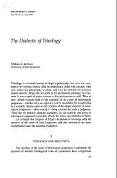 The Dialectic of Teleologyl - UNH IT - University of New Hampshire