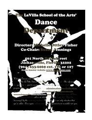 The LaVilla School of the Arts - Duval County Public Schools