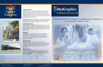 Clinical Research - Medical Graphics Corporation