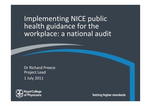 Royal College of Physicians Workforce Audit.pdf - North West Public ...