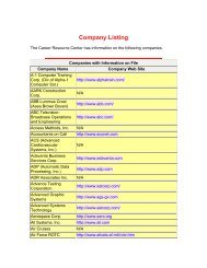 Company Listing - New Jersey Institute of Technology