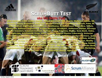 SCRUMBUTT TEST - Jeff Sutherland