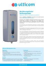 Berührungsfreier Seifenspender - Ulticom Hygiene Deutschland ...
