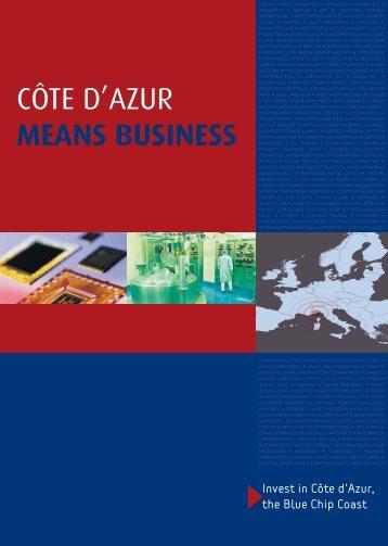 CÔTE D'AZUR MEANS BUSINESS - Team Côte d'Azur