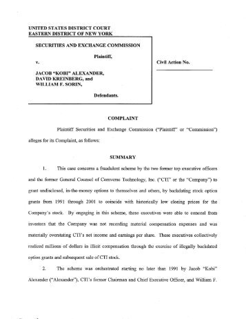 SEC Form X-17A-5 PART II - Securities and Exchange Commission