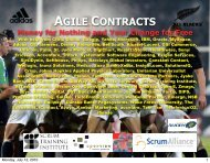 AGILE CONTRACTS Money for Nothing and Your ... - Catalysts