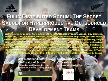 Fully Distributed Scrum, a Case Study Maurits Rijk - Xebia Blog