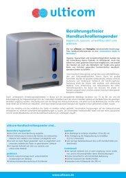 Berührungsfreier Handtuchrollenspender - Ulticom Hygiene ...