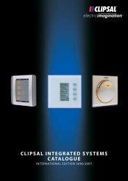 CLIPSAL INTEGRATED SYSTEMS CATALOGUE - Ulti