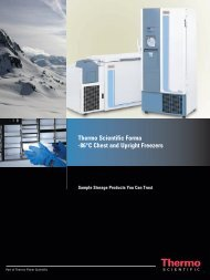 Thermo Scientific Forma -86°C Chest and Upright Freezers - TS Labor