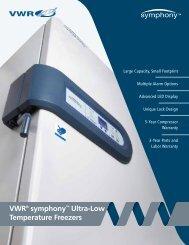 VWR symphony ULT Freezers Lit No 92941REV - VWR International