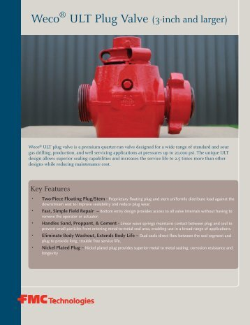 ULT Plug Valve (3-inch and larger) - FMC Technologies