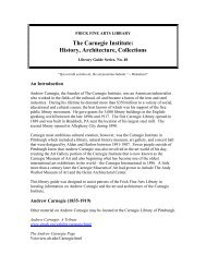 Carnegie Institute: History, Architecture, Collections - University of ...
