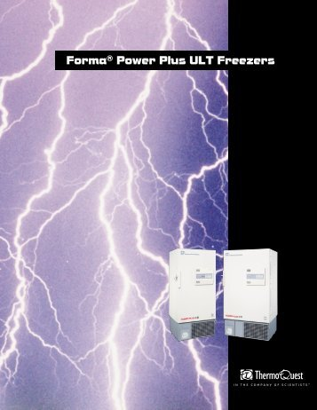 Forma® Power Plus ULT Freezers - Thermo Scientific Home Page