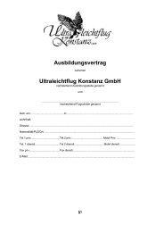 Ausbildungsvertrag - Ultraleichtflug Konstanz
