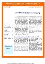 KSR-Mitteilungen 09/06 - bei der karl-spohn realschule