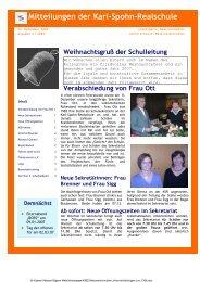 KSR-Mitteilungen 12/06 - bei der karl-spohn realschule