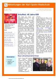 Mitteilungen der Karl-Spohn-Realschule - bei der karl-spohn ...