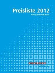 Gewista Preisliste 2012, Doppelseiten, High-Res