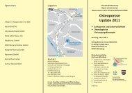 Osteoporose Update 2011 - Universitätsklinikum Würzburg ...