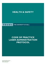 Laser Administration Protocol - 404 - University of Hull
